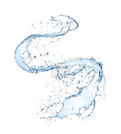 Photo for Water splash isolated on white background - Royalty Free Image