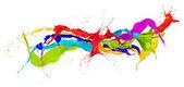 projections colorées