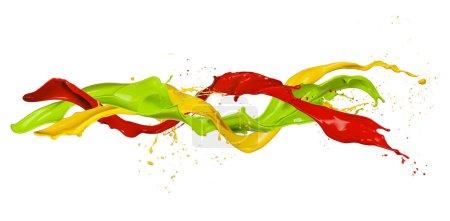 Photo pour Des éclaboussures colorées de forme abstraite, isolées sur fond blanc - image libre de droit