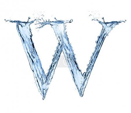 Wasser spritzt Buchstabe