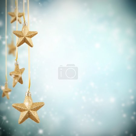 Photo for Christmas decoration on blur blue background - Royalty Free Image