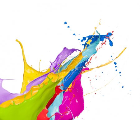 Photo for Isolated colored splashes on white background - Royalty Free Image