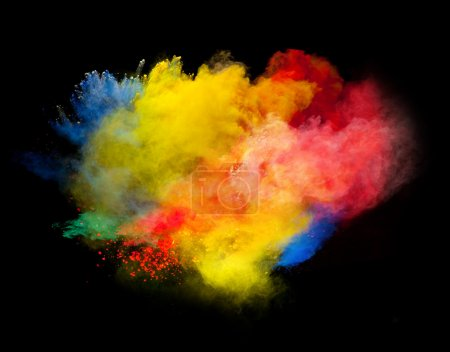 Photo for Colored powder isolated on black background - Royalty Free Image