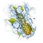 Постер, плакат: Frozen fruit with splash