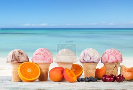 Ice cream on beach