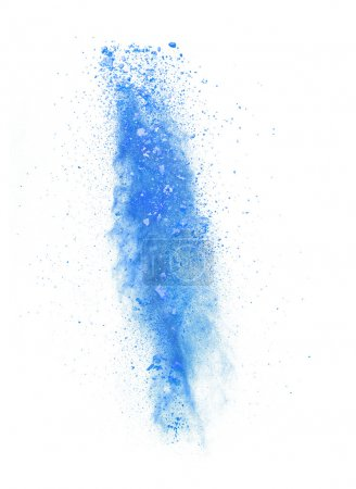 Photo pour Figer le mouvement de couleur poussière isolé sur fond blanc - image libre de droit