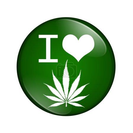 J'adore le bouton de la marijuana