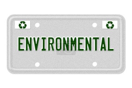 plaque d'immatriculation de voitures écologiques