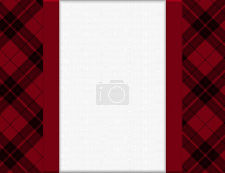 Photo for Red and Black Plaid Frame for your message or invitation with copy-space in the middle - Royalty Free Image