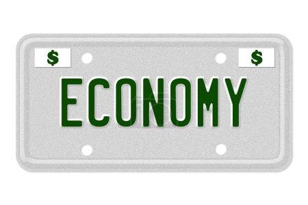 plaque d'immatriculation de voiture économie
