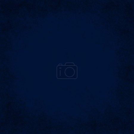 Photo pour Carré Grunge bleu fond texturé avec espace de copie au milieu - image libre de droit