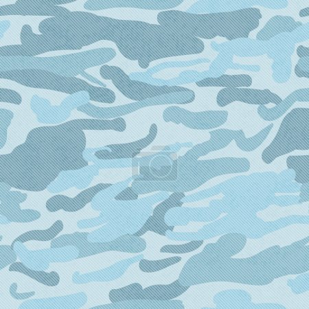 Blue Camouflage Fabric Background