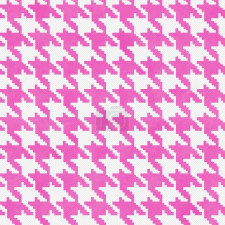 White and Pink Hounds Tooth Fabric Background