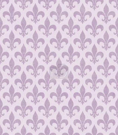 Pink Fleur De Lis Textured Fabric Background