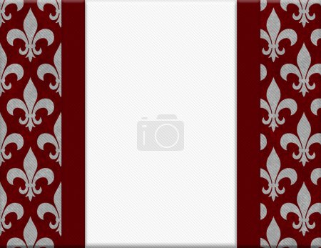 Red and Gray Fleur De Lis Textured Background