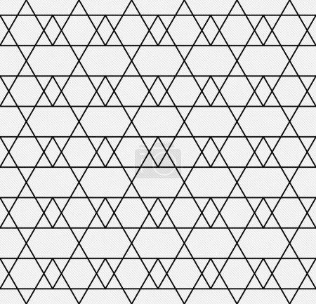 Photo pour Ligne noire et blanche et tissu texturé à motifs Zigzag fond qui est sans couture et se répète - image libre de droit
