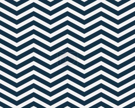 Photo pour Bleu marine et blanc Zigzag Tissu texturé fond qui est sans couture et répète - image libre de droit