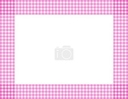 Pink Gingham Frame
