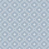 White and Pale Blue Fleur-De-Lis Pattern Textured Fabric Backgro