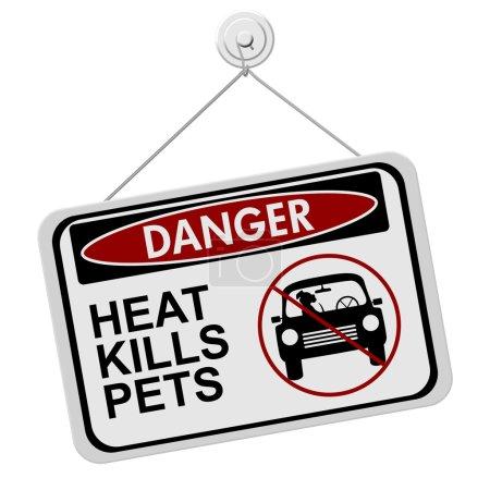 Dangers de laisser un chien dans des voitures en stationnement
