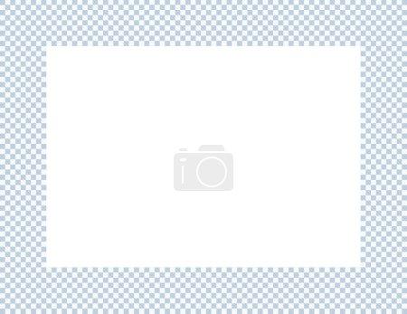 Light Blue and White Checkered Frame