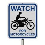 Постер, плакат: Watch For Motorcycles Warning Sign