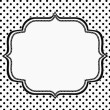 Постер, плакат: Black and White Polka Dot Background with Embroidery