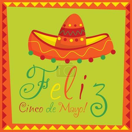 """""""Feliz Cinco de Mayo"""" (Happy 5th of May) card in vector format"""