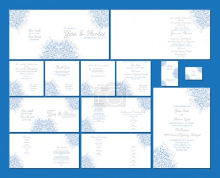 Wedding stationery set