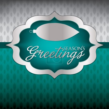 Illustration for Elegant Label Christmas card in vector format. - Royalty Free Image