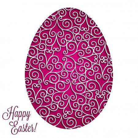 Paper cut out Easter egg card