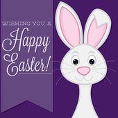 Retro style bunny card