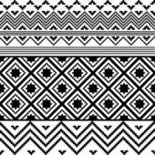 Black and white ethnic texture