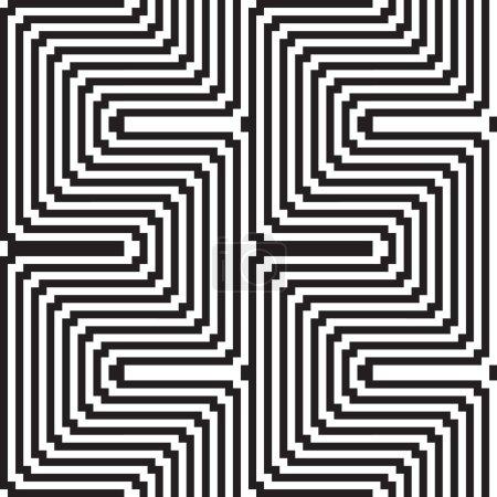 Illustration pour Modèle en noir et blanc - illusion d'optique - image libre de droit