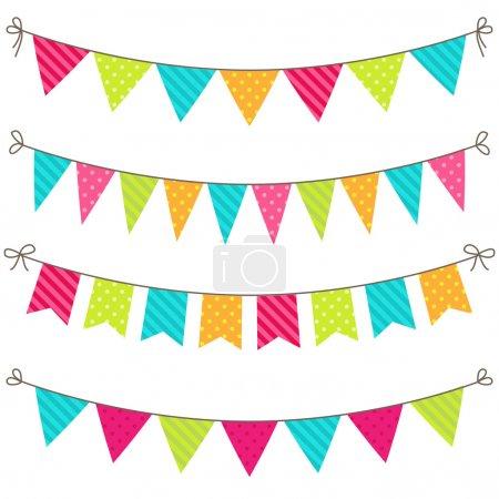 Photo pour Jeu de banderoles colorées et lumineuses vectorielles - image libre de droit