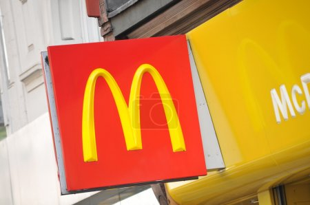McDonalds logo in central London...