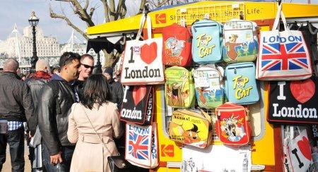 Souvenirs shop in London