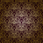 Damask seamless floral pattern Royal wallpaper Flowers on a dark background EPS 10