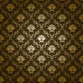 Damask seamless floral pattern Royal wallpaper Flowers on a green background EPS 10