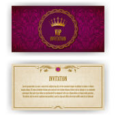 Elegant template luxury invitation card with lace ornament place for text Floral elements ornate background Vector illustration EPS 10