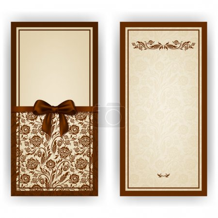 Elegant vector template for invitation, card