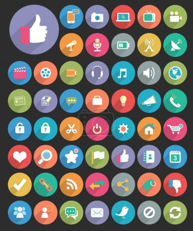 Illustration for Vector flat icons for Web & Mobile App.. - Royalty Free Image