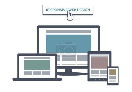 Flat Responsive Web Design