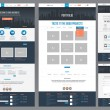 Easily editable flat style website template. Homep...
