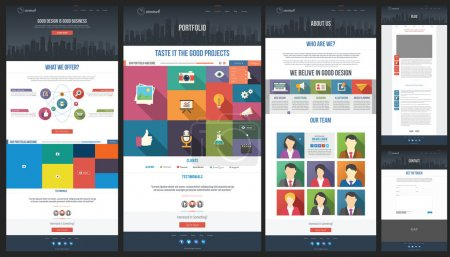 Flat design style modern website template. You can...