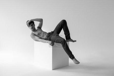 fashion man in studio
