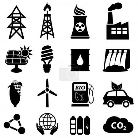 Illustration pour Icône énergie sur blanc - image libre de droit