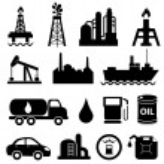 Oil and petroleum icon set...