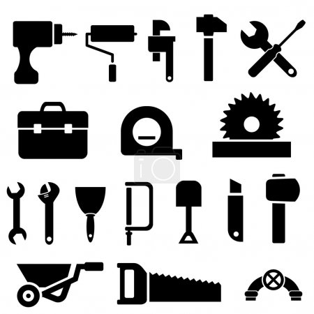 Tool icons in black