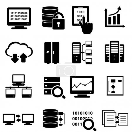 Illustration for Big data and technology icon set - Royalty Free Image